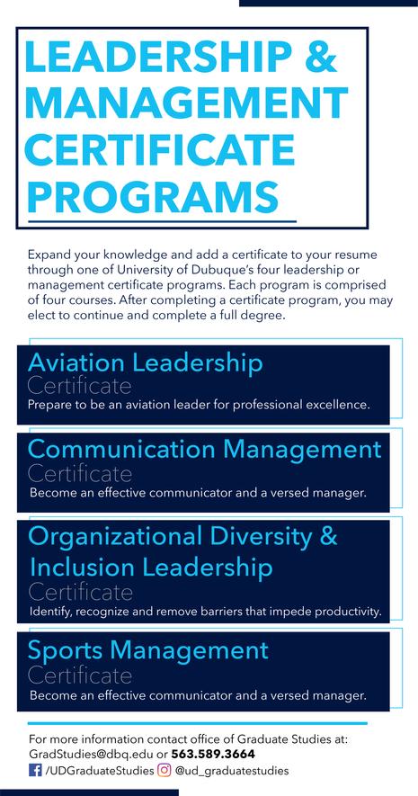 Leadership & Management Certificate Prog
