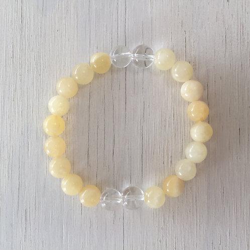 Joyful - Yellow Calcite with Clear Quartz