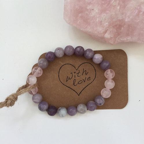 Love & Infinite Peace - Rose Quartz & Lepidolite