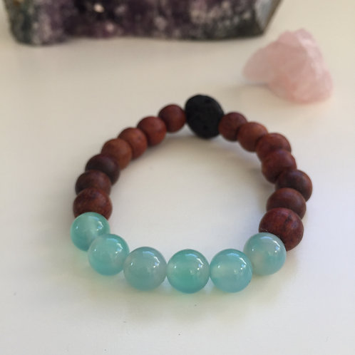 Elevate - Blue Agate & Rosewood