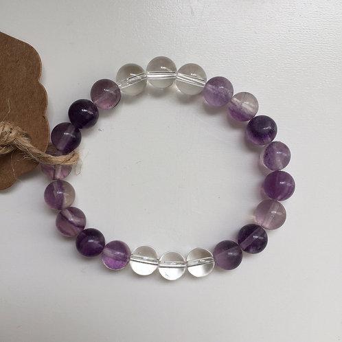 In Spirit - Purple Fluorite with Clear Quartz