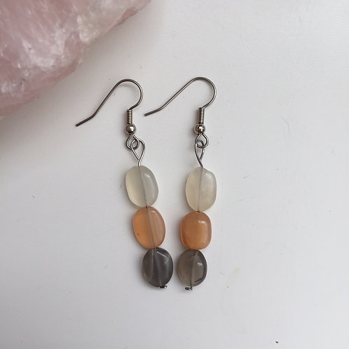 Multi-Coloured Moonstone Earrings