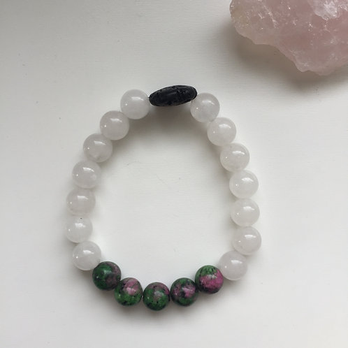 Deep Healer - Ruby in Zoisite & Snow Quartz