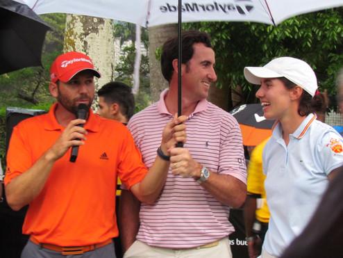 Sergio García, Ferenadez Cartaño y Carlota Ciganda