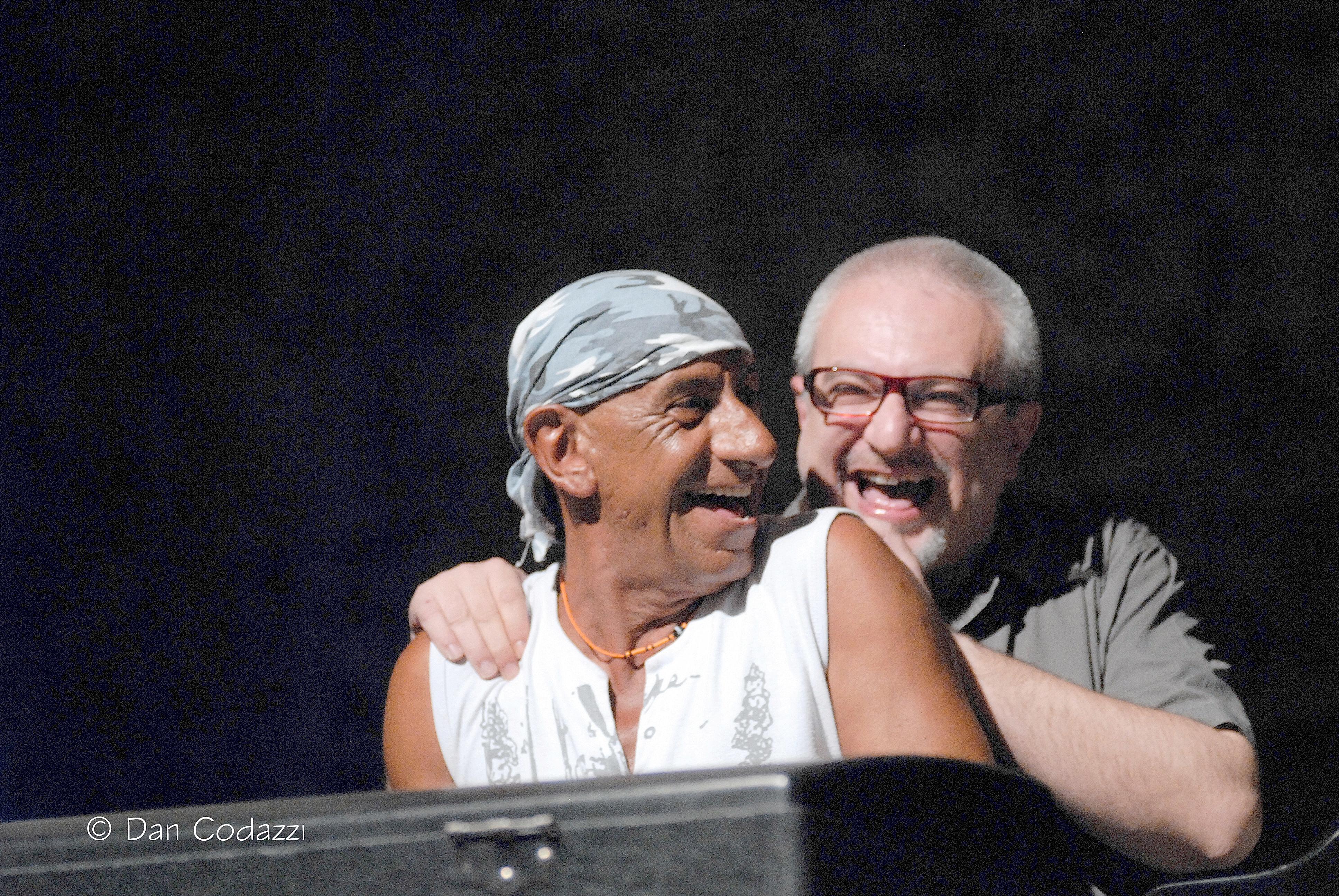 Roberto con Antonello Salis