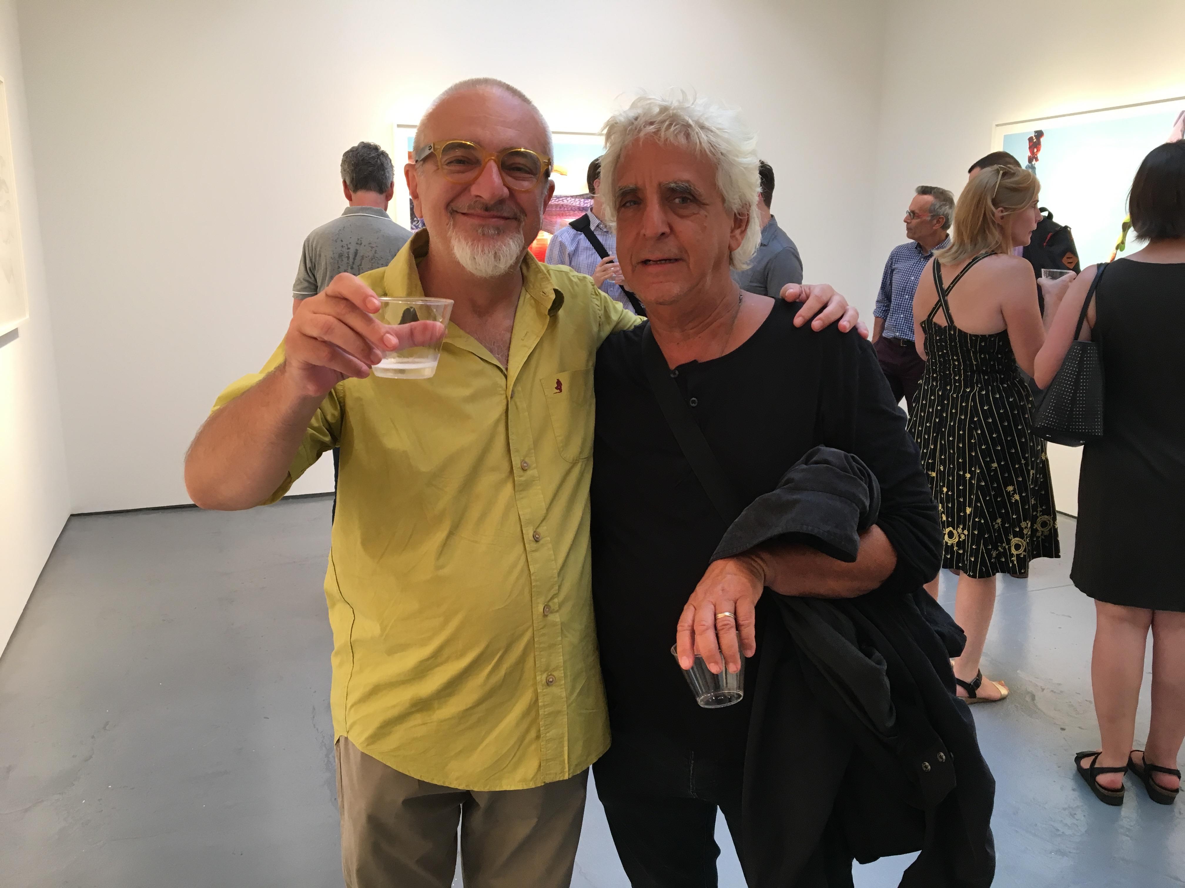 Roberto con Gill Goldstein