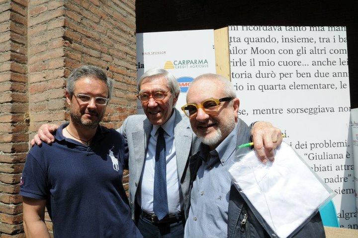 Roberto con Nicola e Franco Cerri