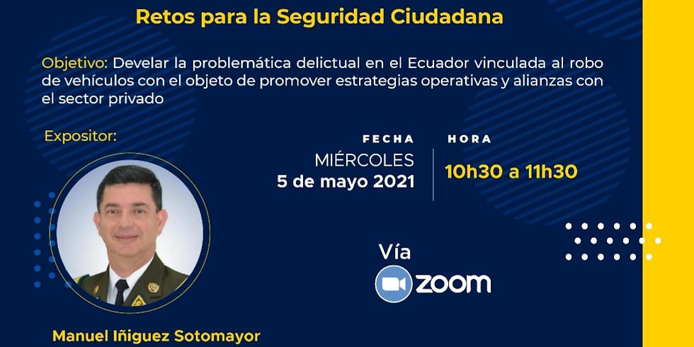 Robo de vehículos en el Ecuador. Retos para la seguridad ciudadana.
