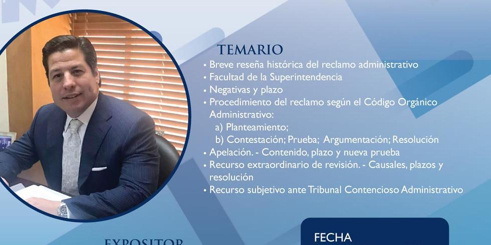 """Charla """"Reclamo Administrativo y su procedimiento según el COA"""""""