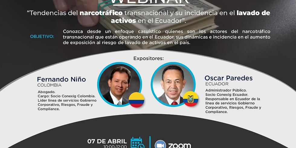 Tendencias del Narcotráfico Transnacional y su incidencia en el Lavado de Activos en el Ecuador