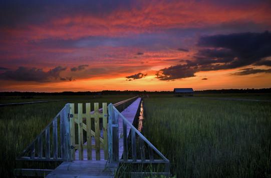 Sunset gateway.