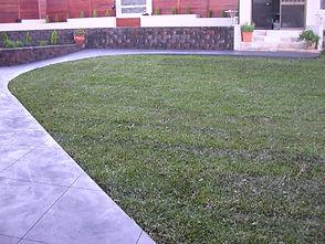 Grass, Retaing Walls