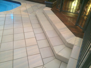 Landscape steps, stairs, Paving, Tiling, Decking