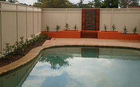 Colourbond fence, Screens, Pool area