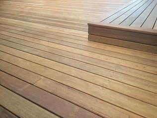 Decking, timber, sealing
