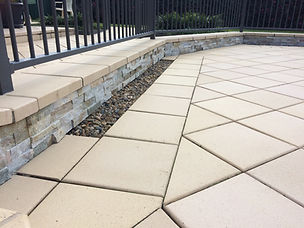 Feature tiling, cladding, stone