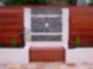 Stone Cladding, Timber seating