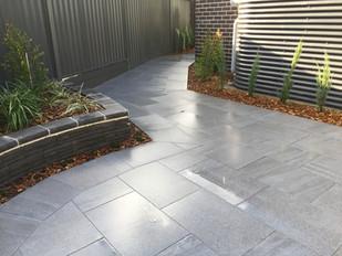 Paving, Tiling, large pavers, grey pavers