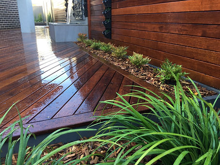 liriopes, nandina, deck, screens, vertical gardens