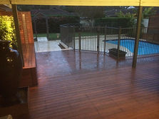 Decking, water feture, ponds, pool fencing