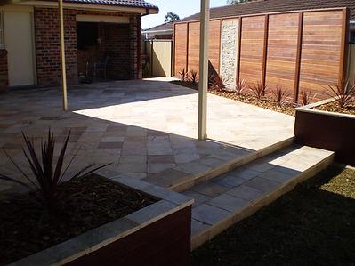 Sandstone Paving, Tiling