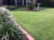 Gardens, lawn, grass, flowers, shrubs, birdbath