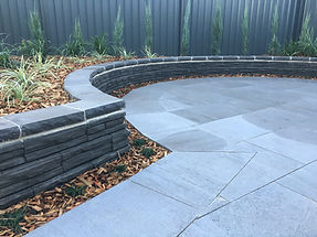 impressions retaining wall, urban surface pavers, tiles, garden beds