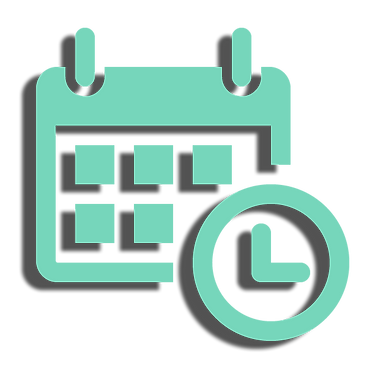 icon drawing of a calendar and clock