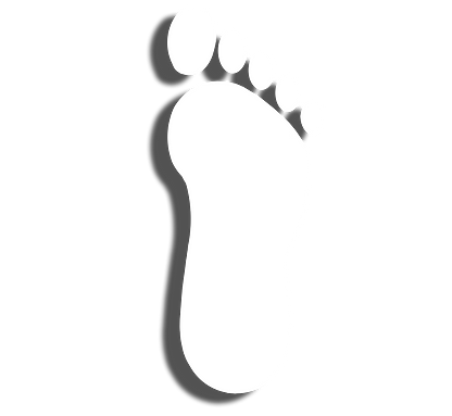 icon drawing of a flat foot