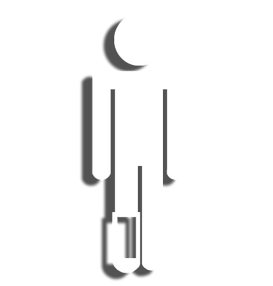 icon drawing of person with foot cast