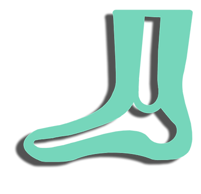 icon drawing of foot and calf with outline of bones