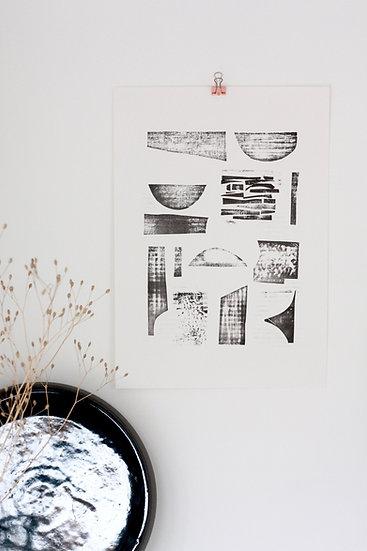 FORM collograph print