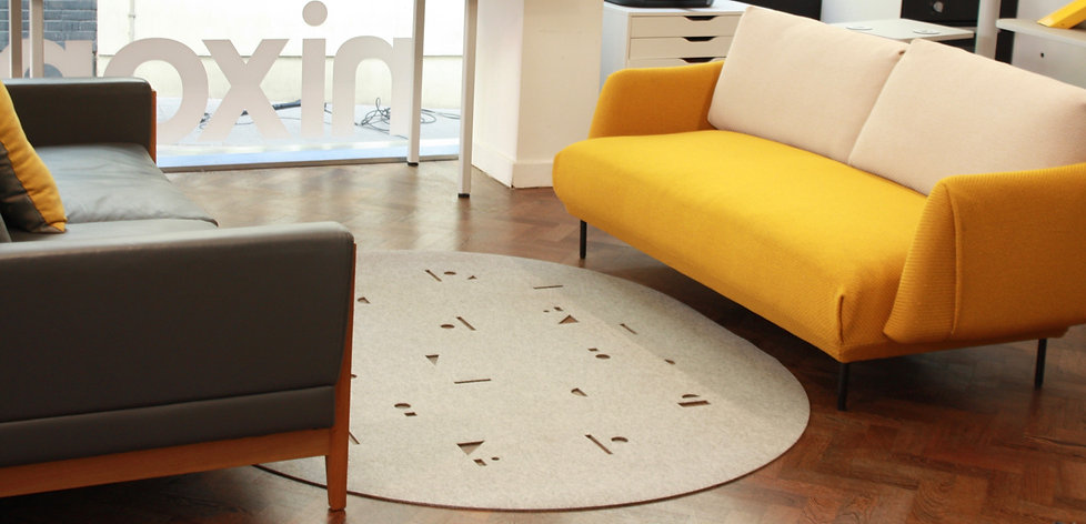 Confetti Wool Felt Rug, sustainable texiles by Selina Rose