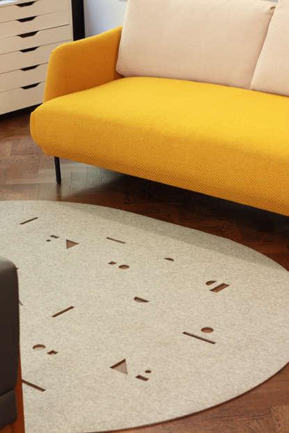 CONFETTI rug (light grey)