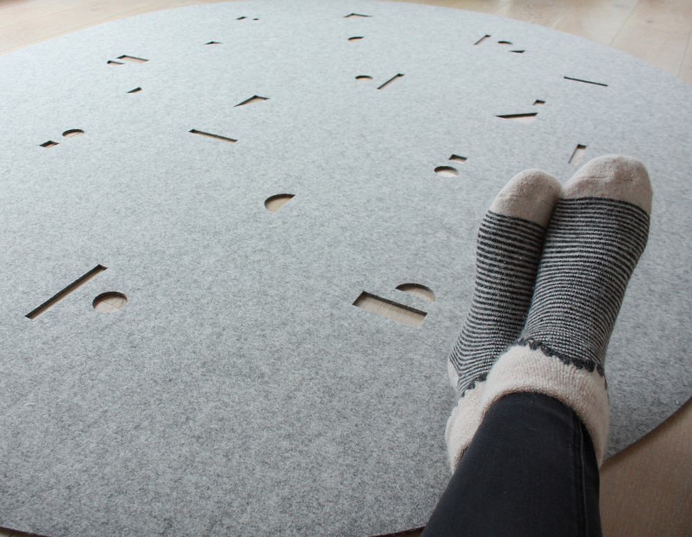 wool, felt, rug, selina rose, textiles, sustainable, surface design, british design