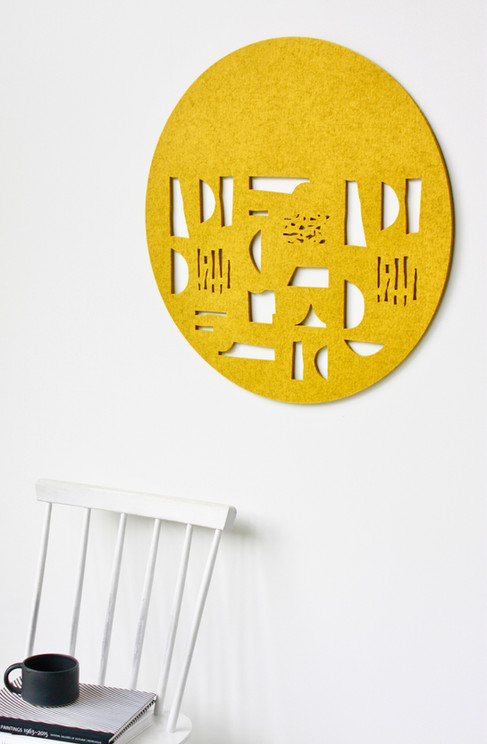 FORM wall hanging (mustard)