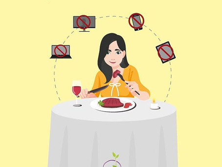 Dedique sua atenção ao ato de comer