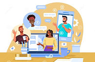 virtual-meeting-illustration-diverse-students-female-tutor-laptop-smartphone-home-workplac