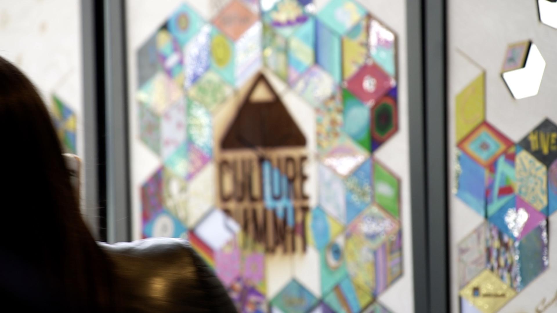 Taking photo Culture Summit Mosaic