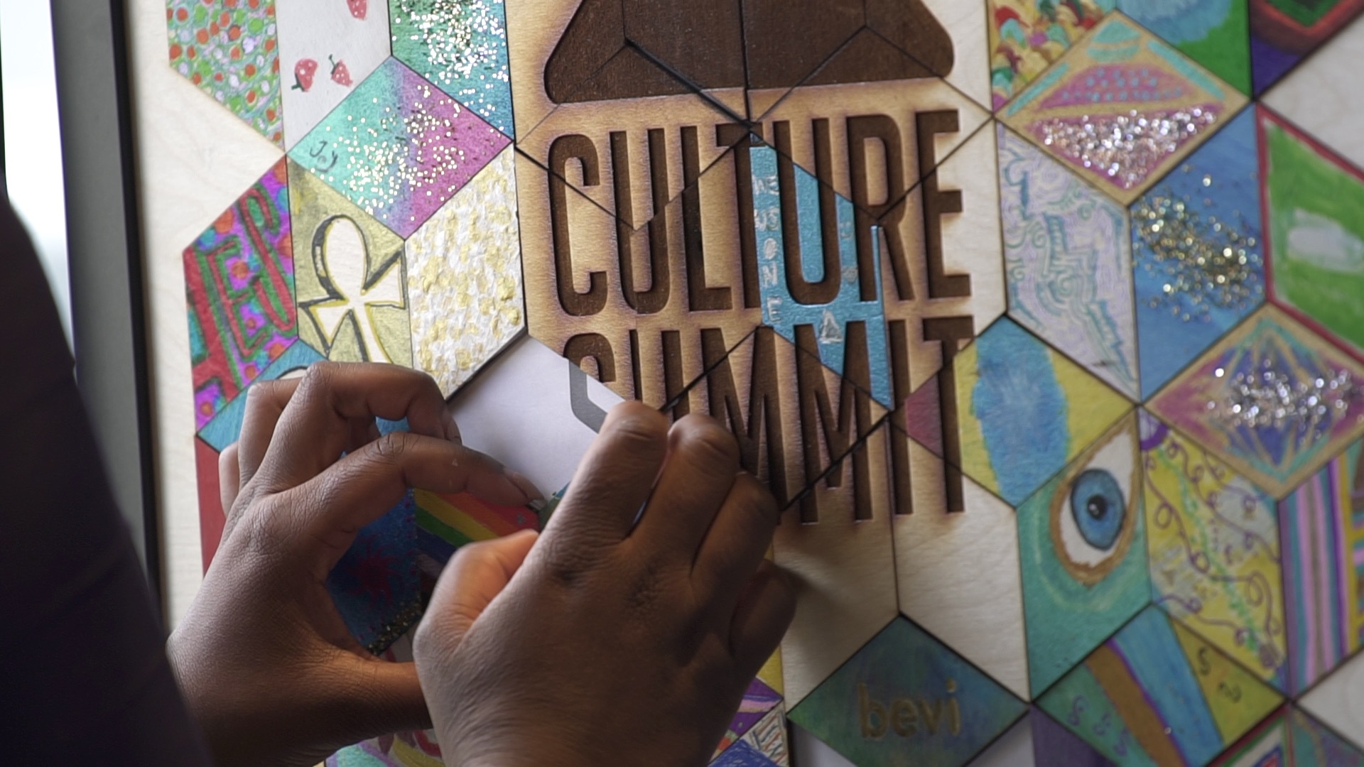 Hands at Culture Summit Mosaic