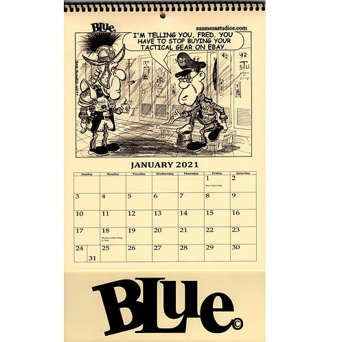 Blue Calendar 2021