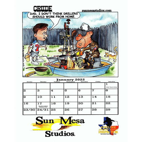 Crude 2022 Color Calendar
