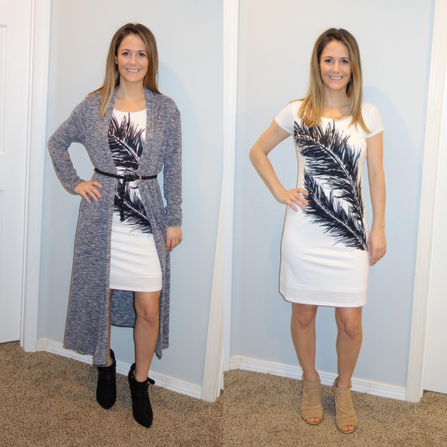 Sara Halcumb wearing tee shirt dress outfit