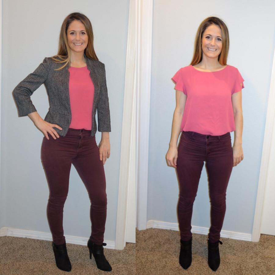 Sara Halcumb wearing pink outfit combo
