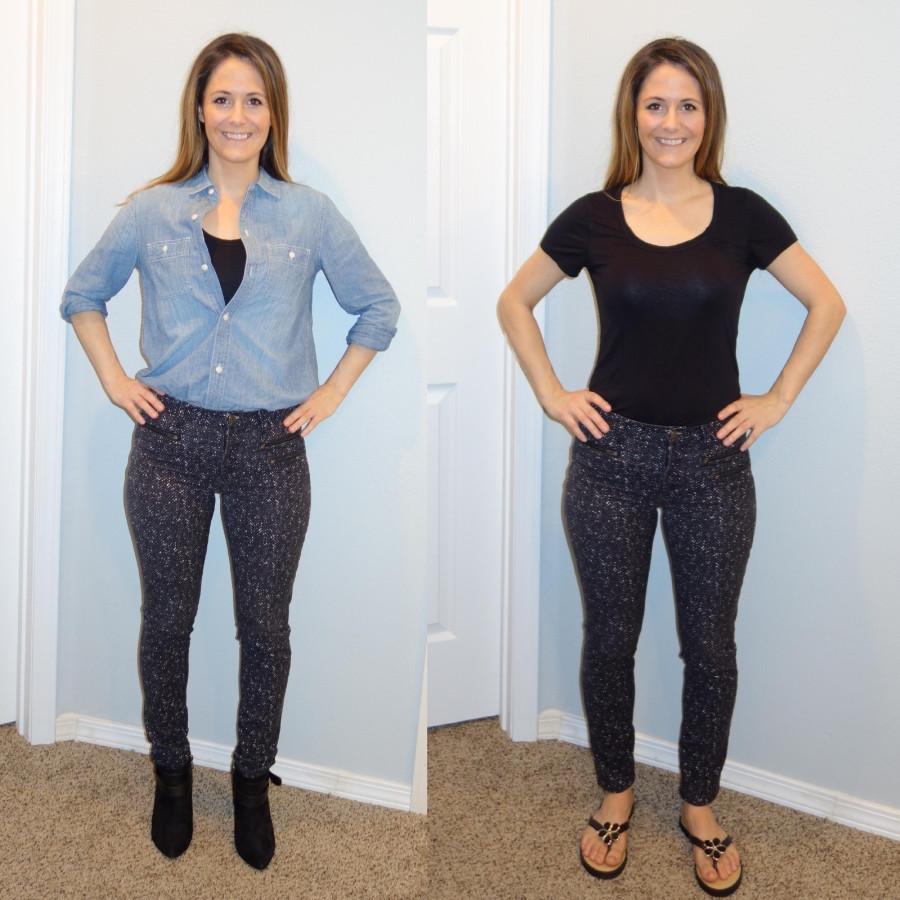 Sara Halcumb wearing sloan pants combo
