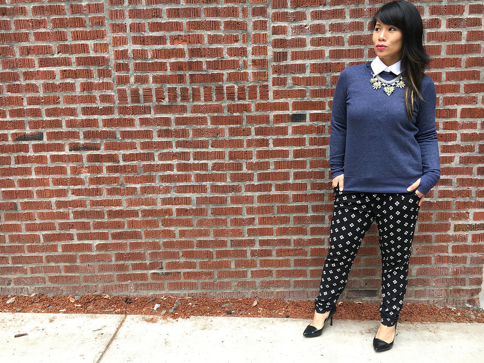 Kat Depner, Personal Stylist and Wardrobe Consultant in Portland, Oregon, standing in front of brick