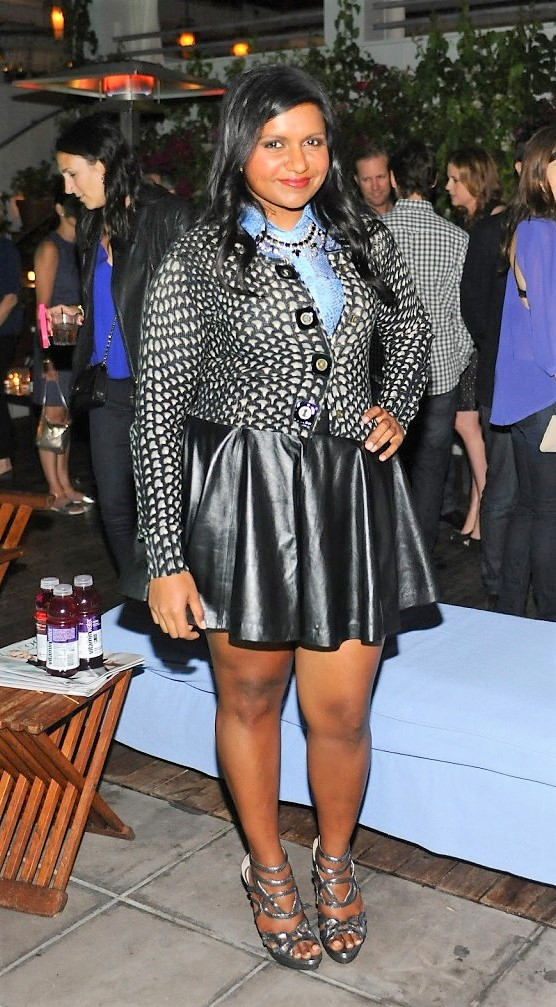 Mindy Kaling in a Flirty Skater Outfit