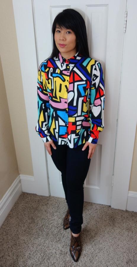 Kat wearing maxilmalist top