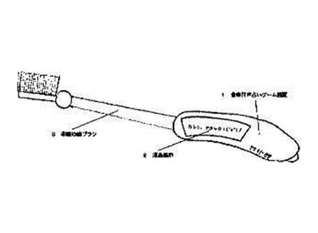 【歯ブラシ特許91】占いゲーム付き歯ブラシ