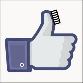 ハブラシ★ハンター ゴム手袋式ハブラシ いいね Facebook